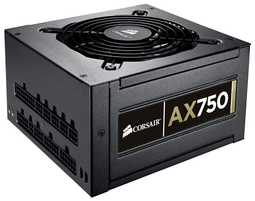 Corsair Professional Series Gold Fully-Modular AX750 750W Power Supply Unit 80 PLUS Gold Certified