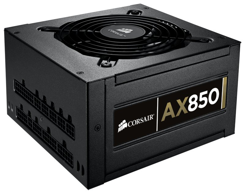 Corsair Professional Series Gold Fully-Modular AX850 850W Power Supply Unit 80 PLUS Gold Certified