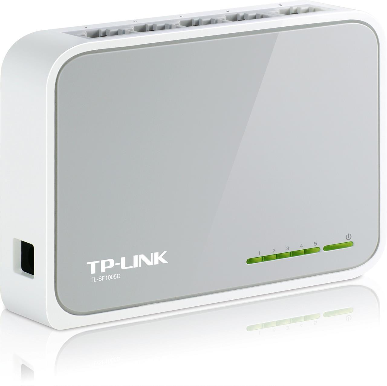 TP-Link 5-port Unmanaged 10/100M Desktop Switch (5 10/100M RJ45 ports)