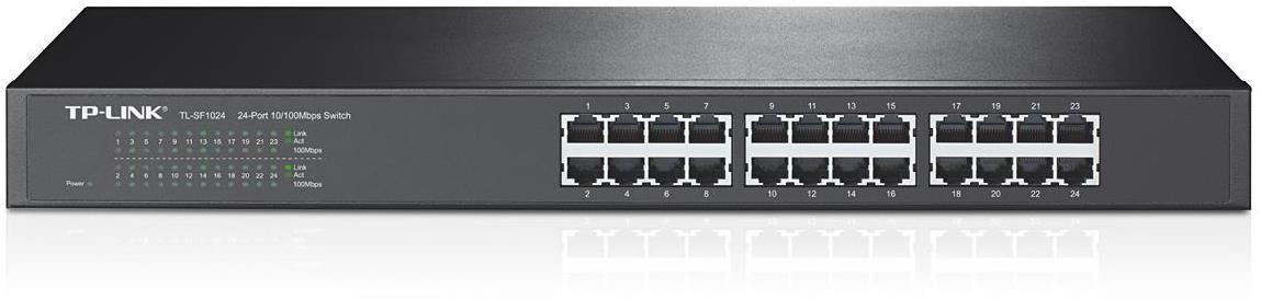 TP-Link 24-port Unmanaged 10/100M Rackmount Switch (24 10/100M RJ45 ports)