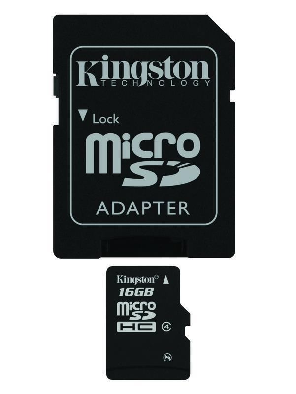 Kingston 16GB Class 4 MicroSDHC SD Camera Secure Digital Memory Card